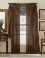 Sheer curtains and scarf in chocolate, my favorite color
