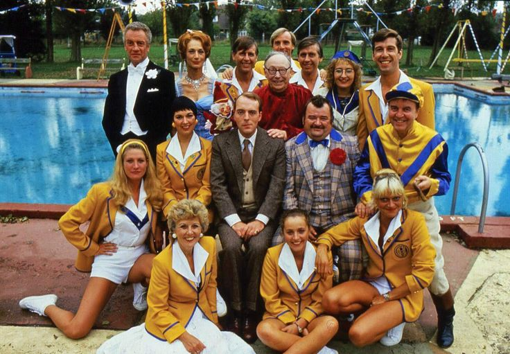Hi-de-Hi! is a BBC television sitcom that was shown on BBC1 from 1980 to 1987.  It is set in Maplins, a fictional holiday camp, during 1959 and the early 1960s. It was written by Jimmy Perry and David Croft, who also wrote Dad's Army and It Ain't Half Hot Mum amongst others. The title was the greeting the campers heard and in early episodes was written Hi de Hi. The series revolved around the lives of the camp's management and entertainers, most of them struggling actors or has-beens