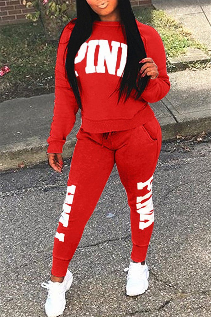 2f03b83049b59 Plus Size Print Pocket Long Sleeve Top & Pants   clothes in 2019 ...