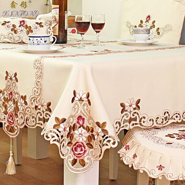 European Pastoral Embroidered Tablecloth Table Cloth Wish Table Covers Wedding Table Cloth Tablecloth Dining