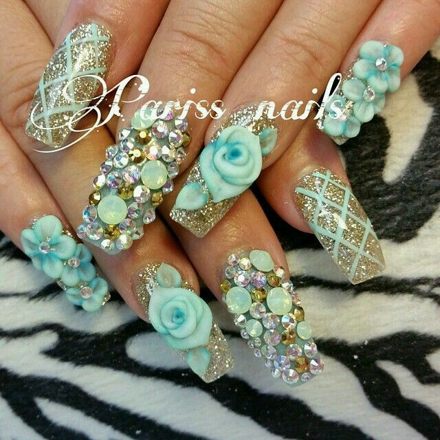 105 best Uñas Nails Sinaloan images on Pinterest | Bling nails, Long ...