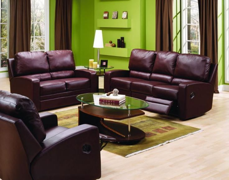 Acadia Leather Reclining Sofa Amp Set Leather Furniture