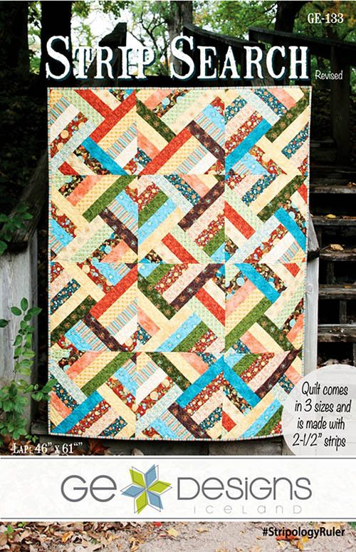"One of the fastest quilts you'll ever make. There are no seams to match and the result is stunning! This quilt is made entirely from your favorite 2 1/2"" strip Dragon Roll, Bali Pop or Jelly Roll. You"