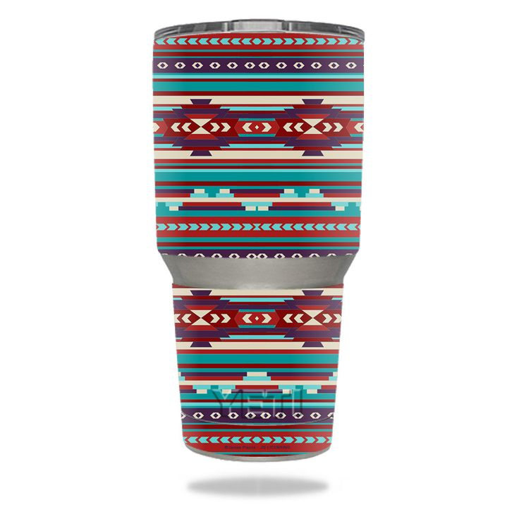 Southwest Stripes YETI 30 oz Rambler Tumbler Skin https://www.mightyskins.com/ #MightySkins #YETI