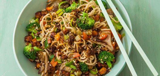 Dit recept komt uit ons kookboek 'Vandaag vegetarisch'. Heerlijk voor iedereen die (een dagje) vlees laat staan.