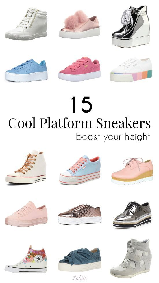 5ae2788d4b47 Collection of 15 Stylish Wedge Platform Sneakers to give you a boost in  height. Petite fashion for women. Teen fashion.