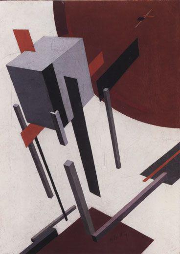"""Lazar Markovitch Lissitsky dit El Lissitsky.  """"Proun 5A"""" - 1923."""