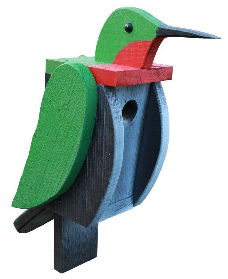 HUMMINGBIRD BIRDHOUSE Ruby Throated Bird House Bird