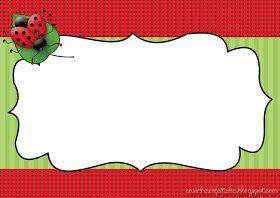 convite joaninha para imprimir grátis Ladybug cards