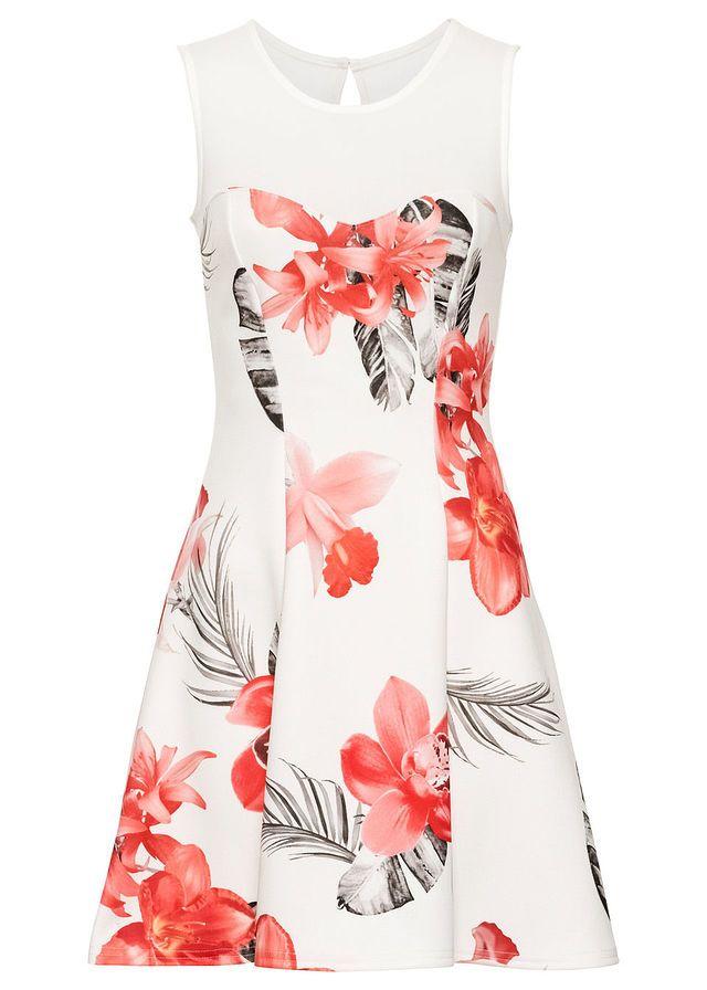 8a3bb98a12 Virágmintás ruha • fehér/pink • bonprix áruház | Ruha | Formal ...