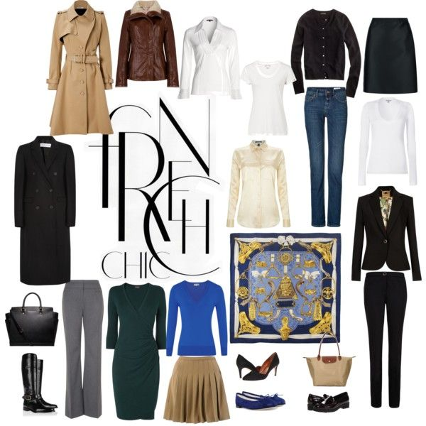 The essentials a listed in Susan Sommers' book French Chic - as I visualise them.