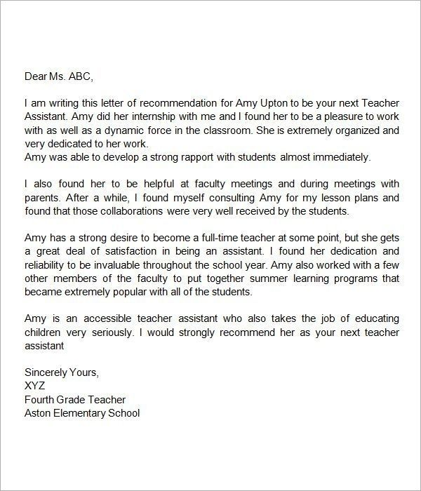 Letter Of Reference For Teachers from i.pinimg.com