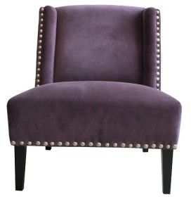 Living Area | Living Edge  Bella Vito club chair - velvet purple