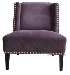 Living Area | Living Edge  Bella Vito club chair - velvet purple