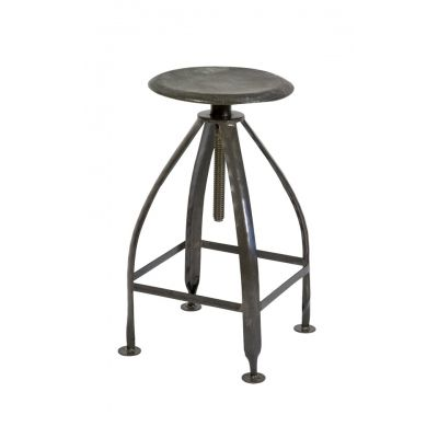 An adjustable stool.  Good for if I want to stand up and fold laundry or sit and still be at the right height for the counter. Industrial Metal Adjustable Stool, Raw Seat, Raw Legs