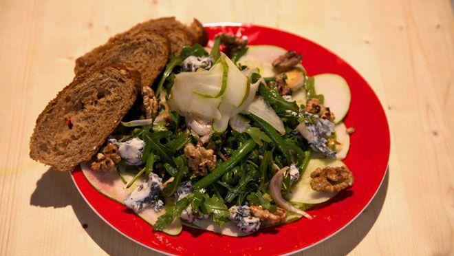 Carpaccio van peer met witlof-bonensalade - recept   24Kitchen