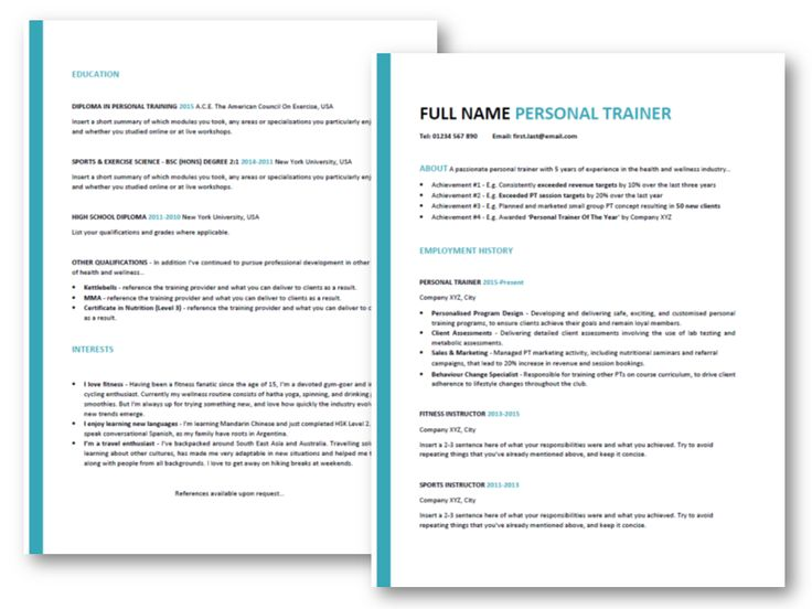 Want to create the perfect personal trainer resume? Get our FREE professional template, plus step-by-step guidance & the exact phrases to include on a killer CV. Click to read more..