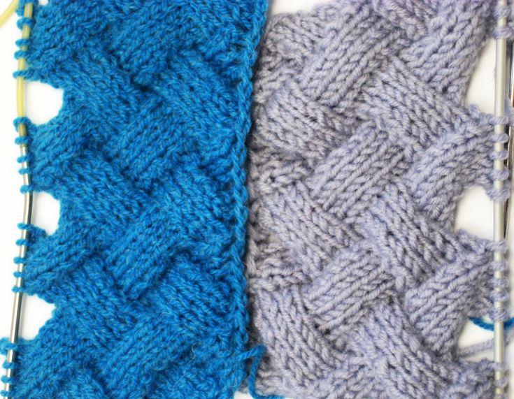 Entrelac Knitting Patterns ( without Turning Work) _ Узор Плетенка или Э...