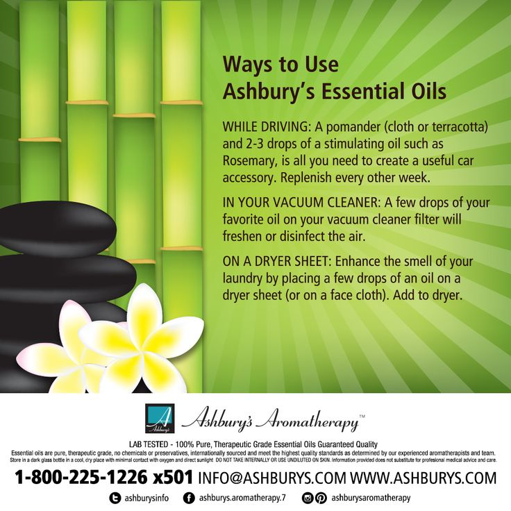 Ways to Use Ashbury's Essential Oils WHILE DRIVING: A pomander (cloth or terracotta) and 2-3 drops of a stimulating oil such as Rosemary, is all you need to create a useful car accessory. Replenish every other week. #ashburysaromatherapy