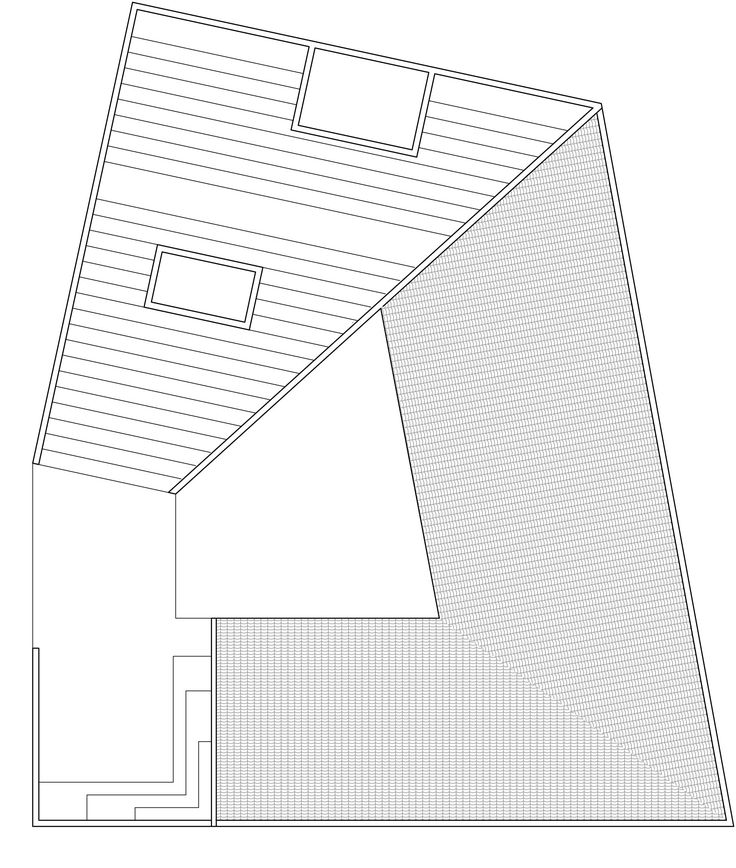 Image 10 of 11 from gallery of Mulan Primary School / Rural Urban Framework. Roof Floor Plan