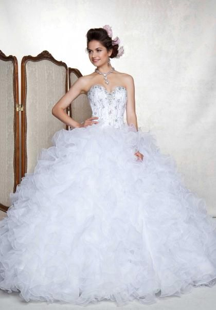 17 Best images about Quinceanera Dresses White on Pinterest | Xv ...