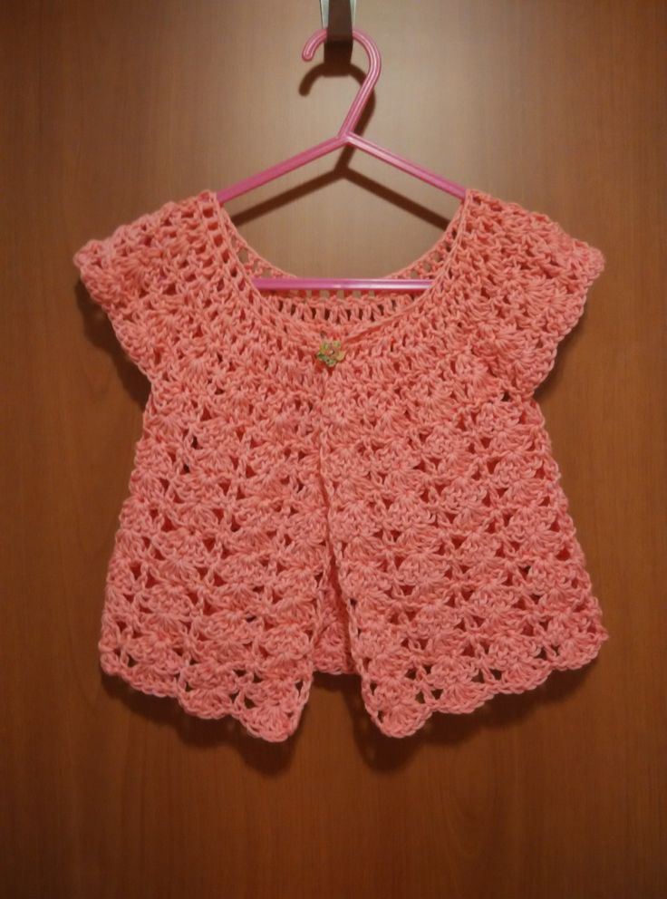 crochet toddler cardigan 100% cotton for ages 1 to 3 years by yrozafcrocheting on Etsy