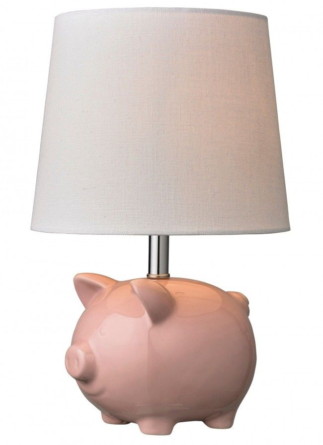 Stanley pig table lamp pink lamp lighthousewarming giftslampshadeskitchen