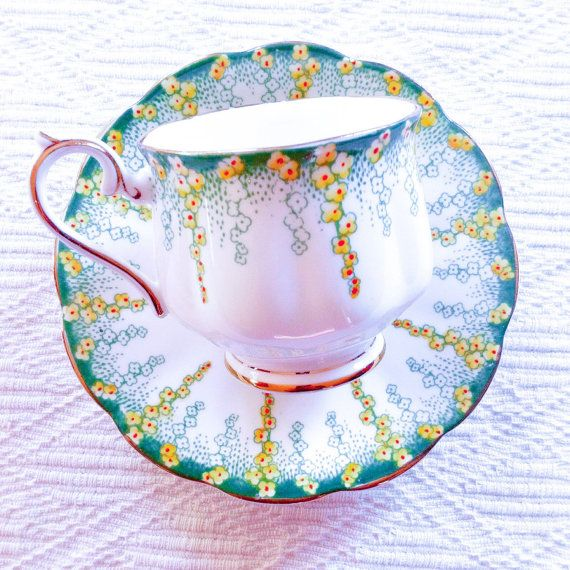 Royal Albert 'April Showers' 1940's Tea Cup and Saucer