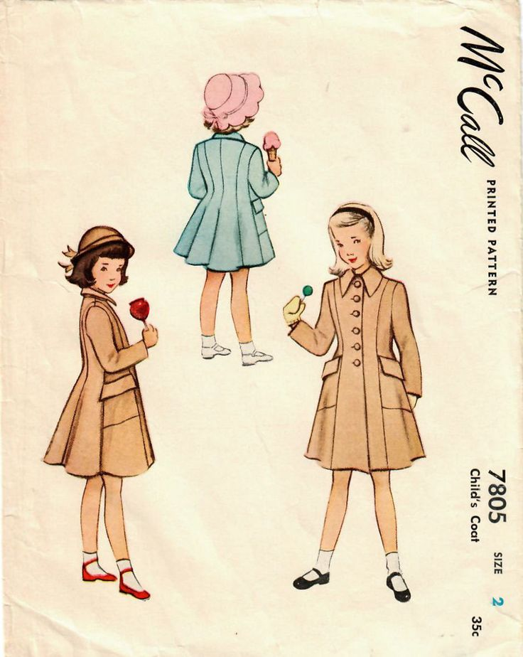 Just listed this girl's coat with beautiful tailored style from the late 1940s! https://www.etsy.com/listing/575520878/1940s-mccall-7805-vintage-sewing-pattern