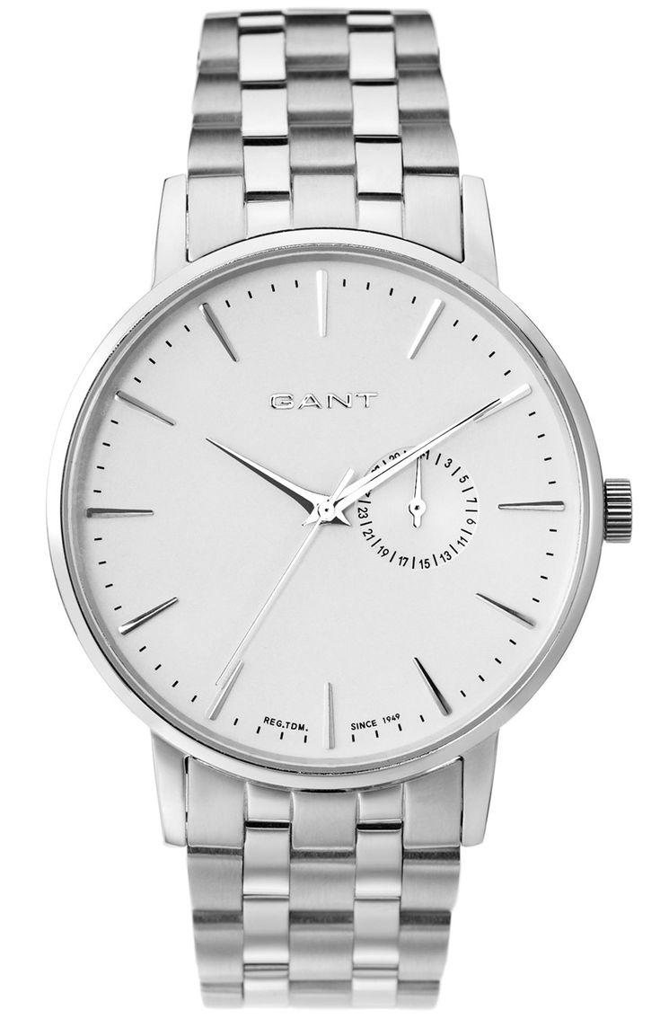 Elegant Gant ur til mænd i stål - Gant Park Hill II Silver Metal W10845