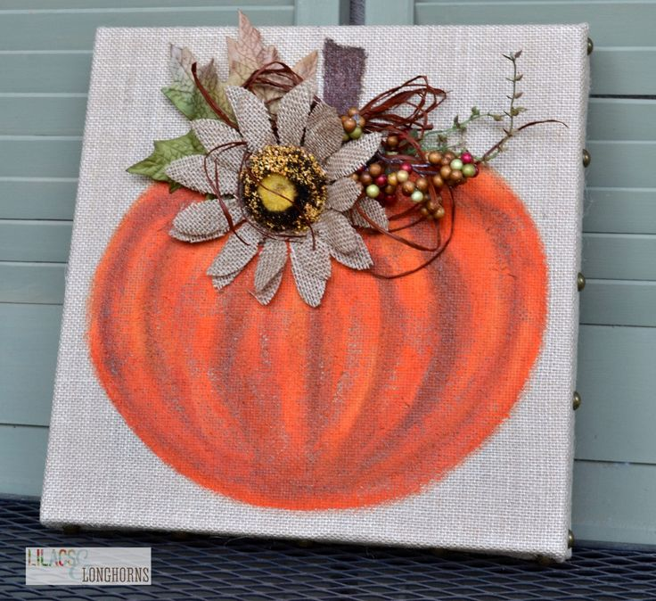 Fall Burlap Art DIY - this is SO pretty and perfect for the season!  (Tutorial by Lilacs and Longhorns for the Live Creatively Inspired blog!)