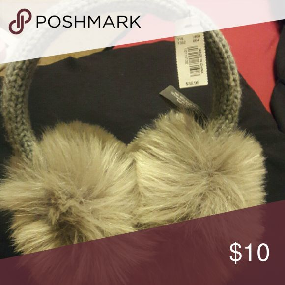Women Earmuffs Brand New Women Grey Faux Fur EarMuffs From The Limited The Limited Other