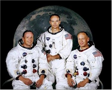 Apollo 11 astronauts Armstrong, Collins, Aldrin. Had this pic above my bed.