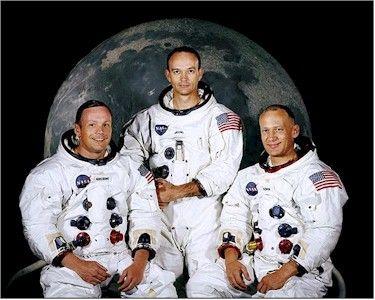Apollo 11 astronauts Armstrong, Collins, Aldrin