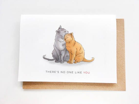 There's no one like you Card  I love you card