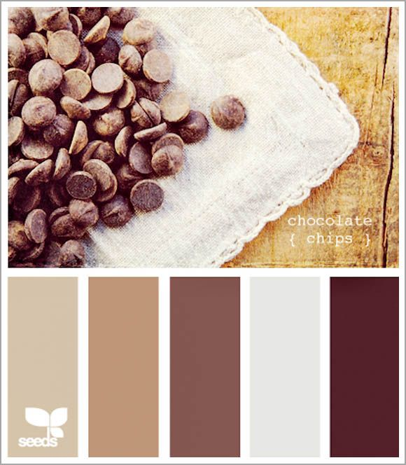 Great website for wedding color pallets... Not surprisingly, I really like this coffee/chocolate pallet.