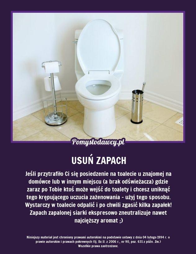 PROSTY TRIK NA USUNIĘCIE ZAPACHU PO WIZYCIE W TOALECIE :)