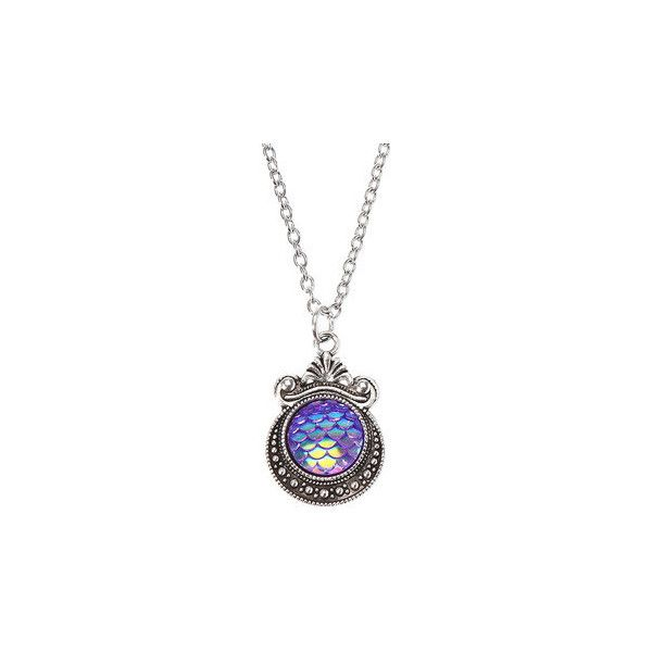 Retro Colorful Mermaid Scaly Necklace ($5.18) ❤ liked on Polyvore featuring jewelry, necklaces, purple, purple pendant necklace, multicolor necklace, colorful necklaces, pendant necklaces and multi coloured necklace