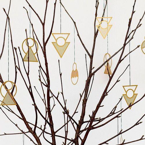 Christmas Ornaments, brass, 3 pcs.