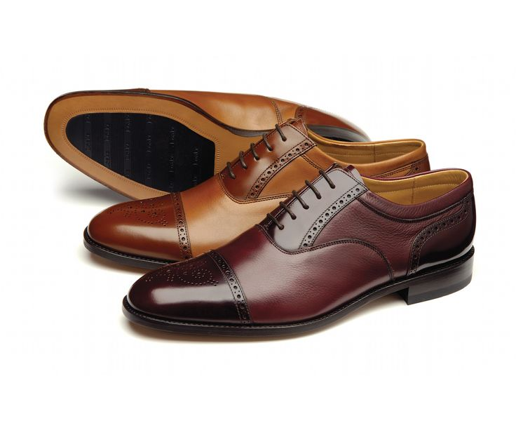 Two Tone Oxford Shoe Featuring Brogue Punching Made With