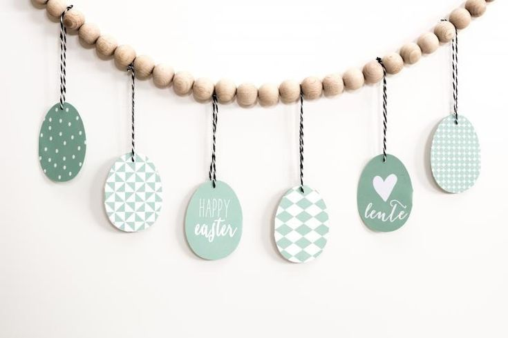 Scandinavian Nordic Easter Decoration. Free mint green printable by EverythingElze