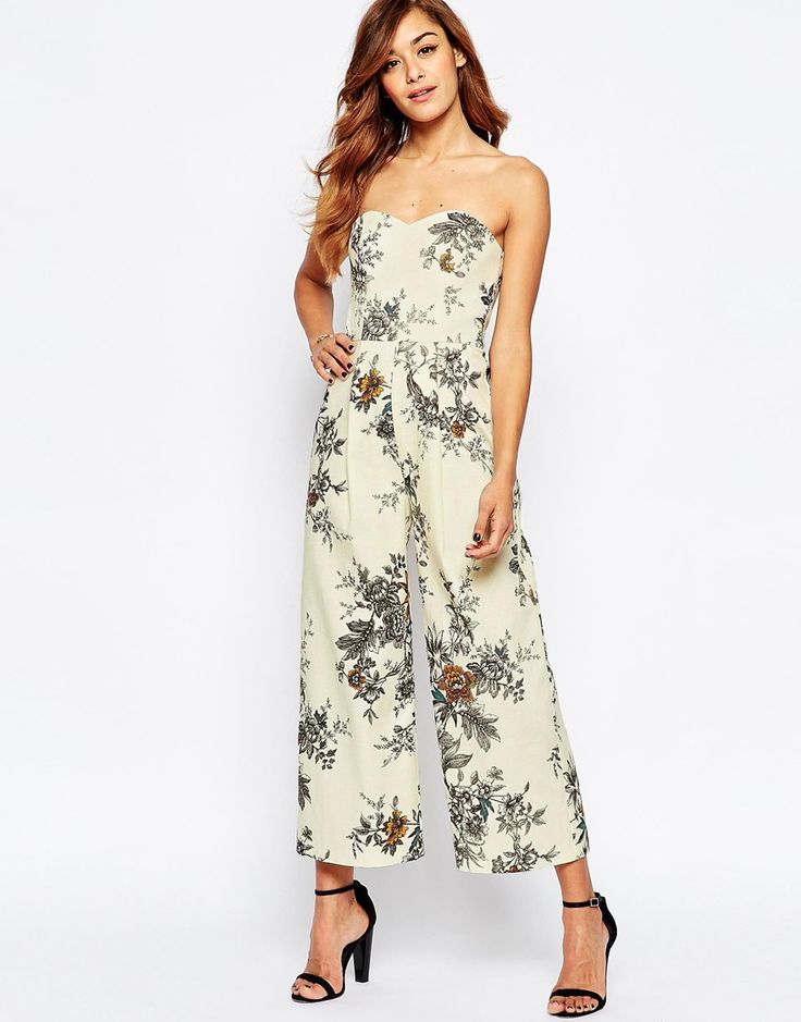 Image 1 of ASOS Occasion Tailored Floral Jumpsuit