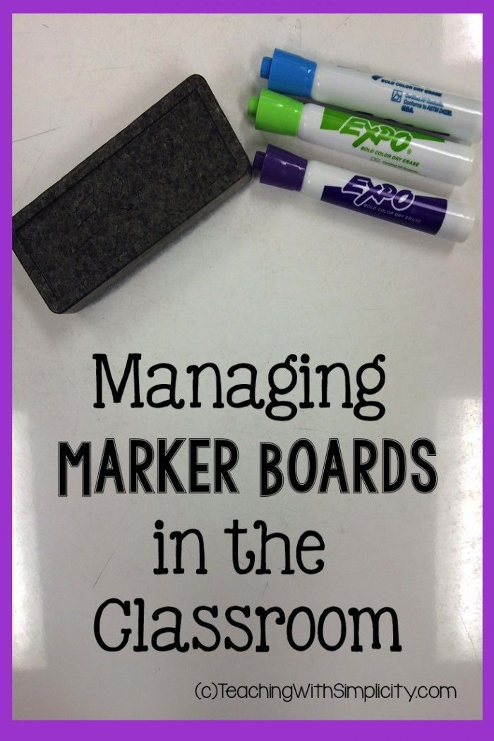 Managing Marker Boards in the Classroom with doodle time.  If students use the marker boards as instructed they get one minute of doodle time at the end.