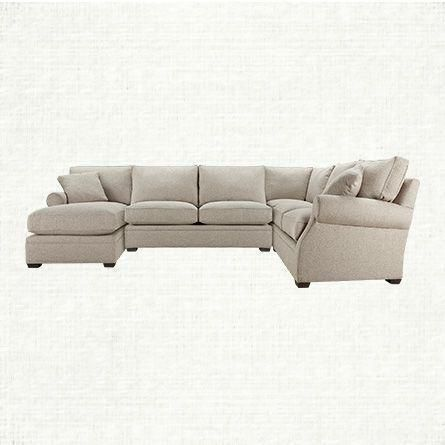 Landsbury 145 Three Piece Upholstered Right Sectional In Theater Gunsmoke
