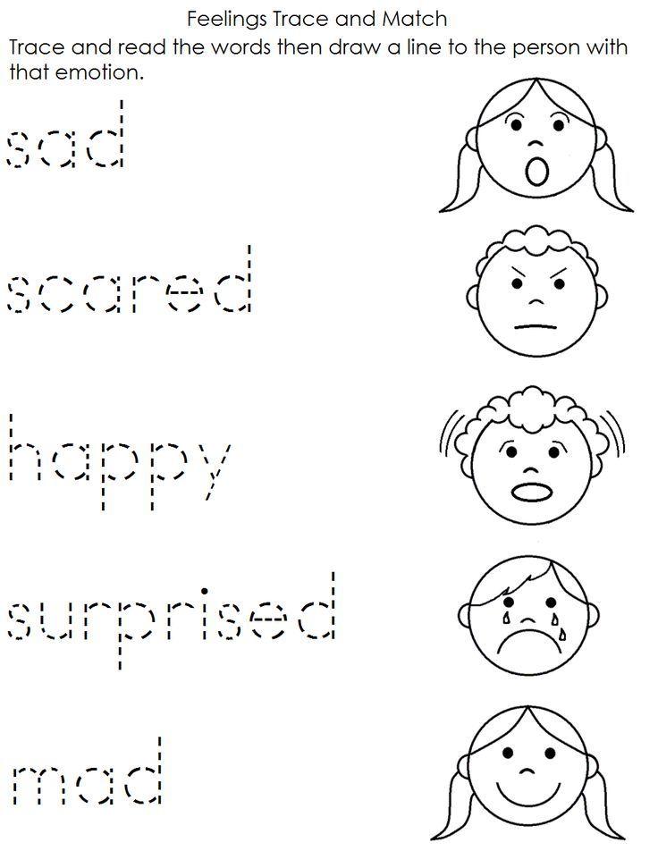Pin On Feelings Coping Skills Resources For Kids Printable preschool feelings worksheets