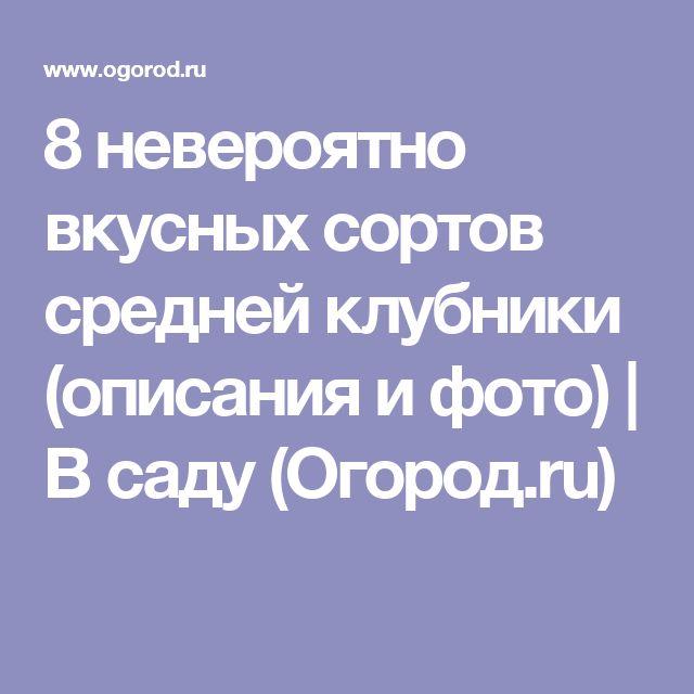 8 невероятно вкусных сортов средней клубники (описания и фото) | В саду (Огород.ru)