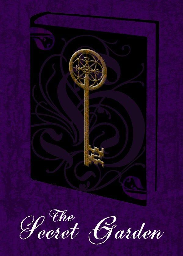 The Secret Garden Poster by Emily Pigou  #book #poster #cover #purple #key #secret #garden #fantasy #victorian #displate #decor