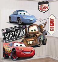 Flot Cars vægdekoration til børnefødselsdagen.