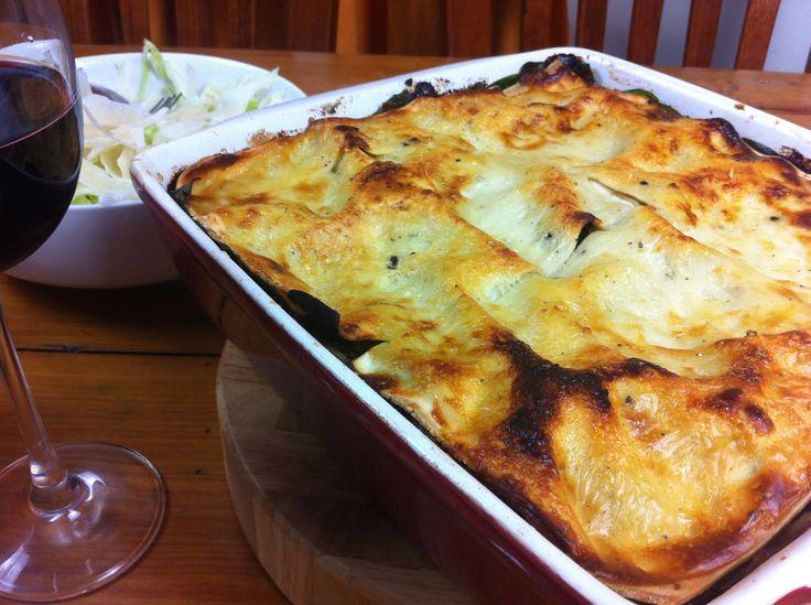 Beef, spinach & mushroom lasagne | The Gnocchi Situation  #lasagne #italian