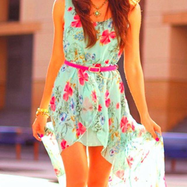 Floral high-low dress: Summer Dresses, Summer Dress, High Low Dresses, Floral Prints, Spring Dresses, Flowers Dresses, Highlow, Cute Dresses, Floral Dresses